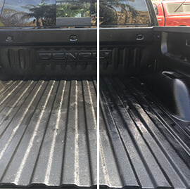 Truck Bed Liner Cleaned and Restored